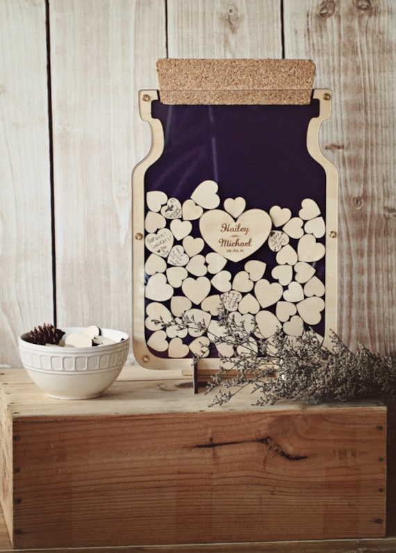 Bottle Of Hearts - Wedding Guest Book Alternative With Cork Size 1