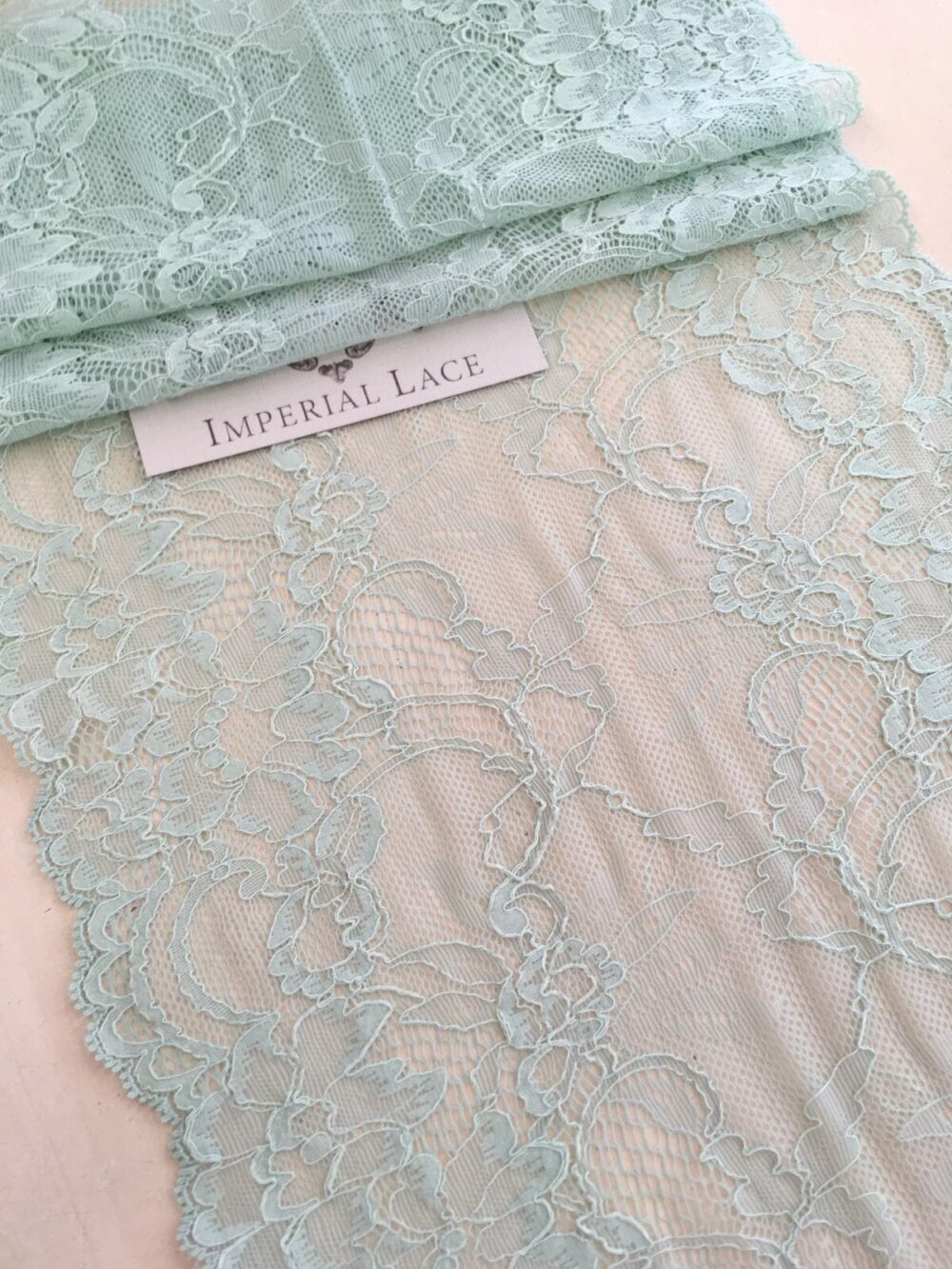 Mint Lace Trim By The Yard, French Elastic Trim, Green Trimming, Bridal Gown, Wedding Lace, Veil Lace Garter Mk00353