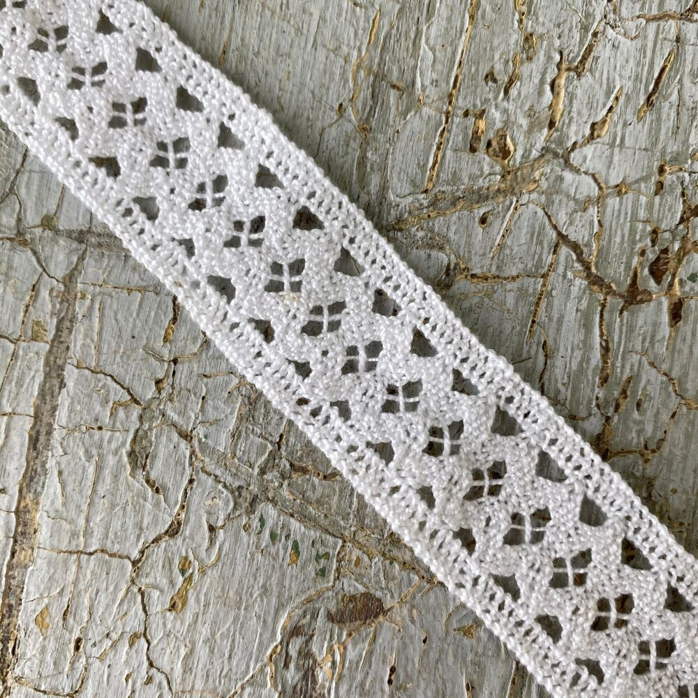 5.5 Yards By Vintage White French Lace Trim Passementerie