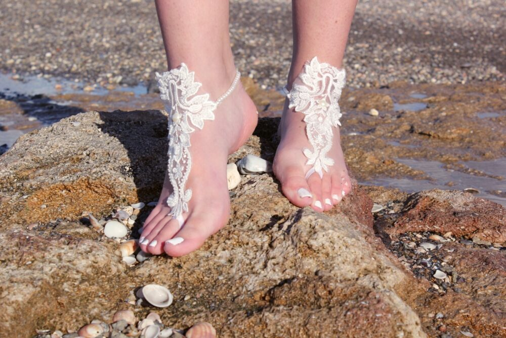 Bridal Accesories, Beach Wedding, Barefoot Wedding Sandals, Lace Accesories , Boho Bride, Bride To Be Gift, Sandals
