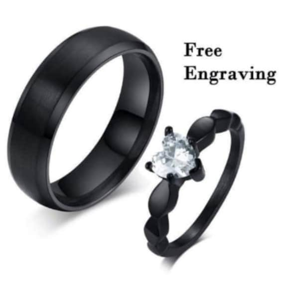 Promise Ring Set, His & Her Set