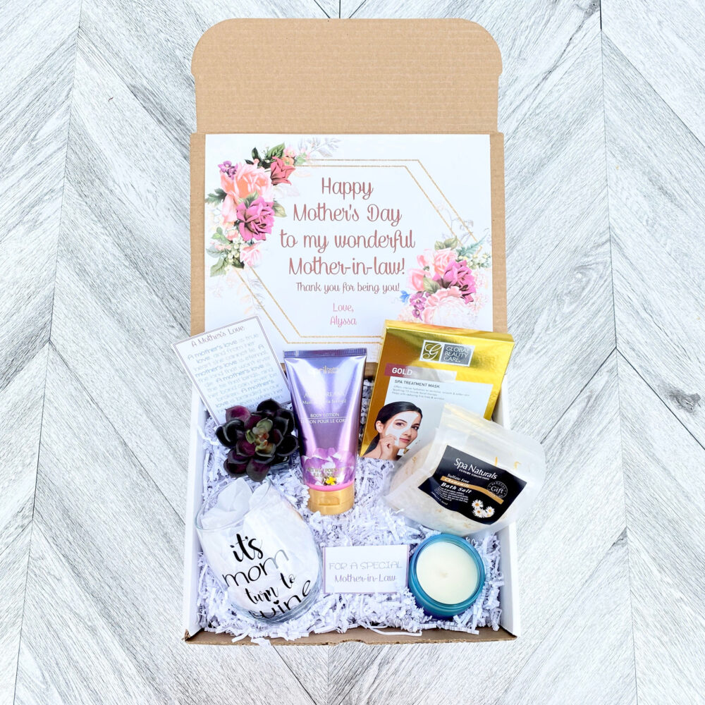 Mother in Law Spa Gift Set - Pamper Yourself Gift Box Mother's Day To Relax It's Moms Turn Wine