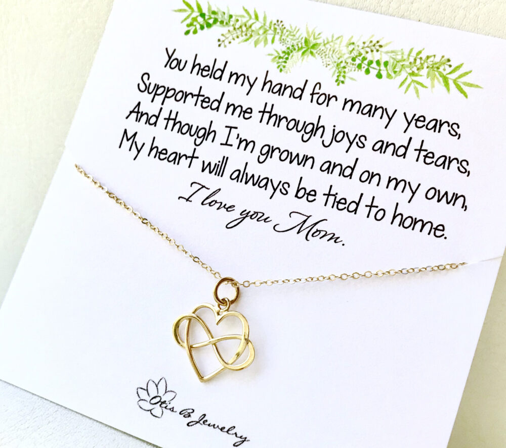 Mother Of The Bride Gift Set, Heart Infinity Necklace, Mother Bride Gift From Daughter, Sentimental For Mom, Mothers Jewelry