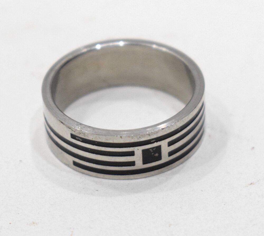 Ring Stainless Steel Etched Band