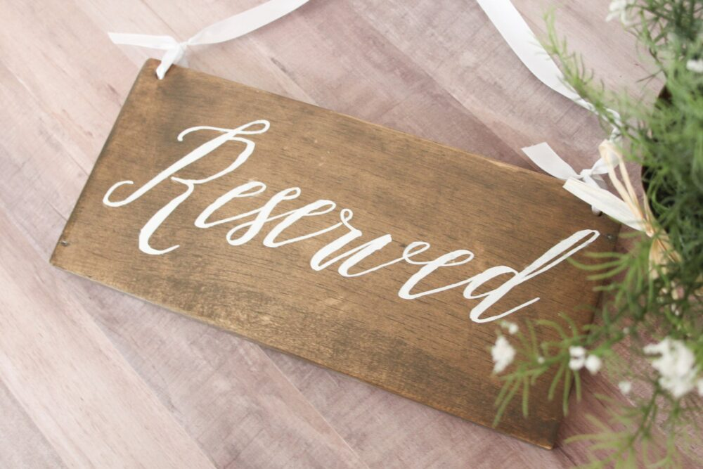 Wedding Sign, Rustic Reserved Wood Sign For Wedding