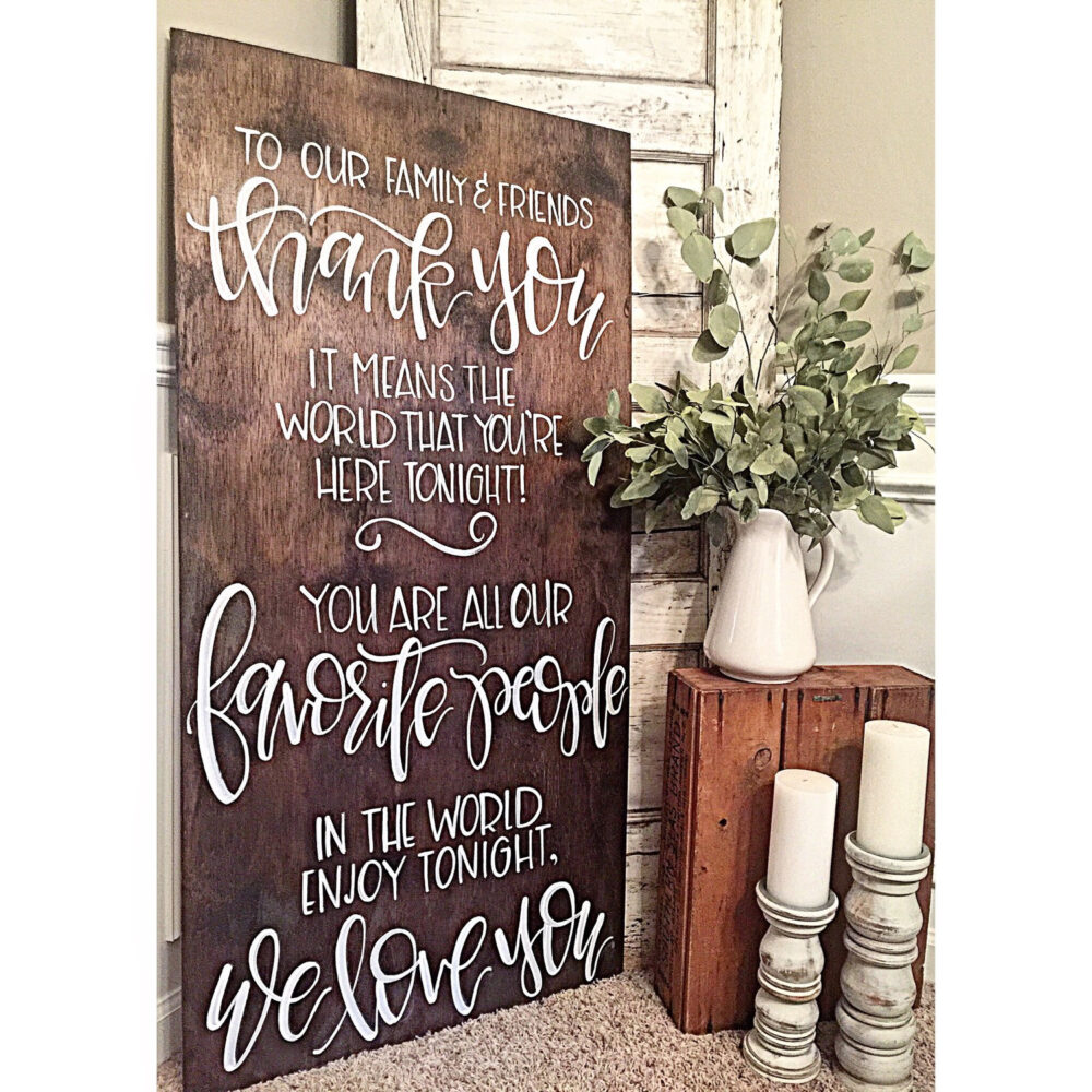Large Wedding Welcome Sign   Thank You Entrance Rustic Decor Wood Signs Ceremony