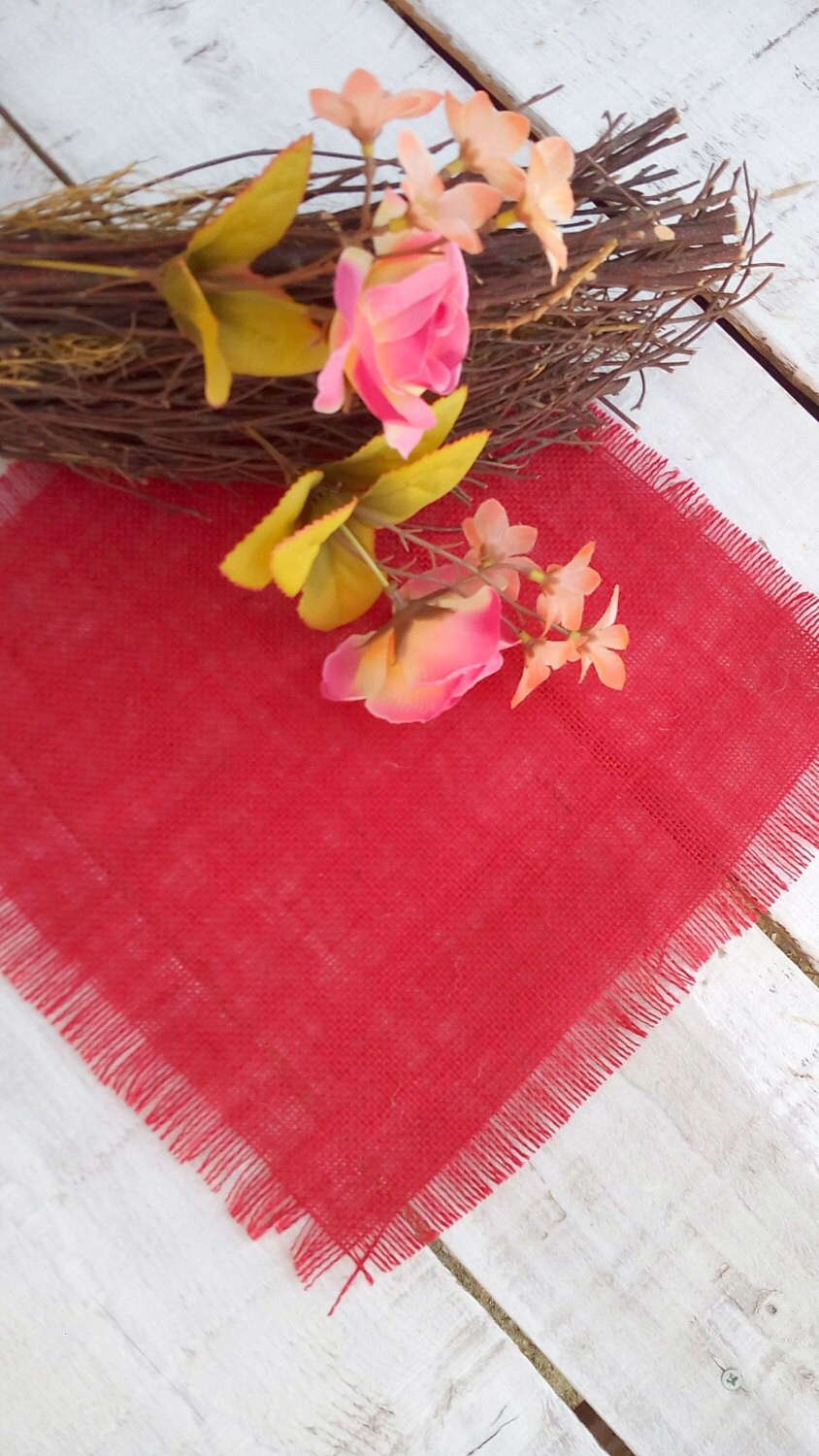 """Table Squares For Weddings, Toppers, Burlap Linens, Wedding Overlays, Coloured Centerpieces, Rustic Decor, 20"""" X 20"""", Set Of 4"""