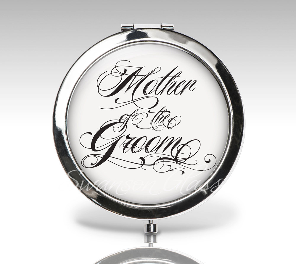 Mother Of The Groom, Wedding Gift, Compact Mirror, Bridal Party Personalized Custom Bride Gift C37