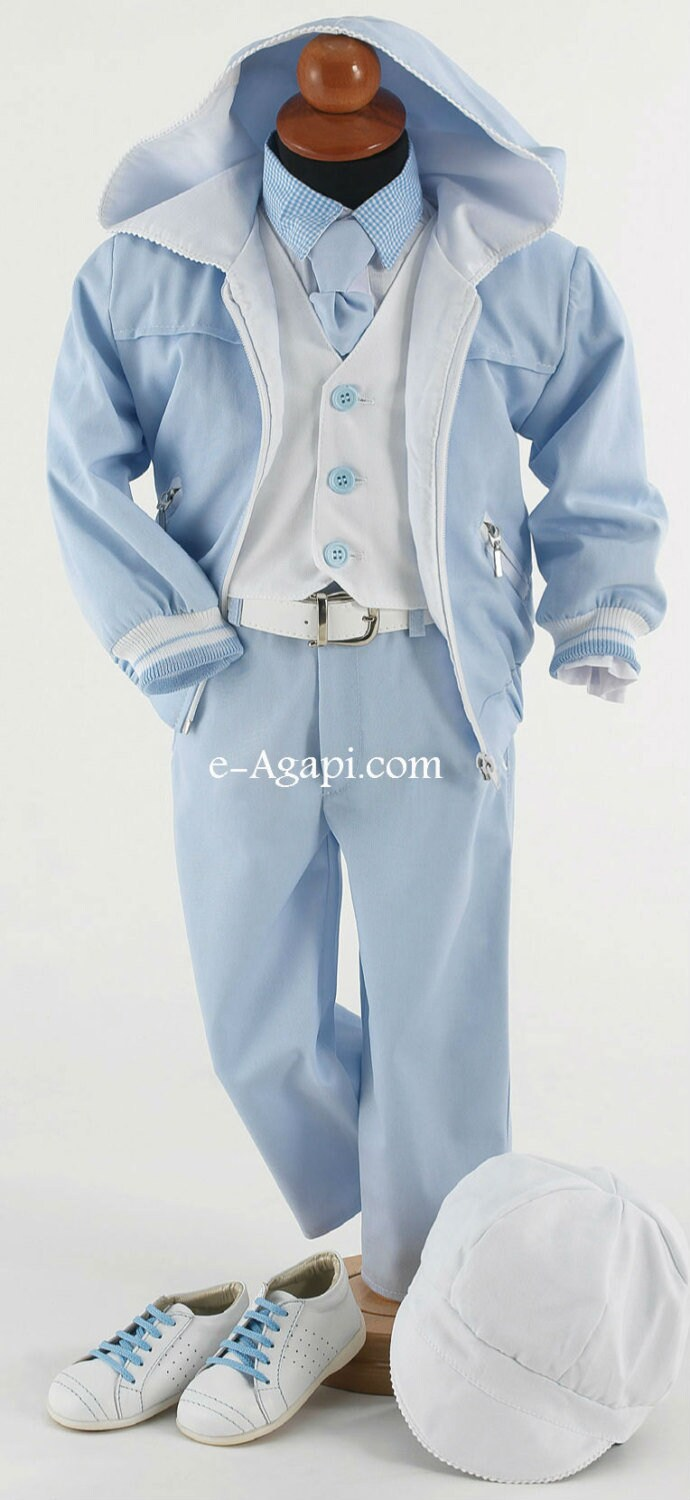 Wedding Baby Outfit Baby Boy Baptism Suits Set Christening Greek Orthodox Suit Boys First Birthday Blue White
