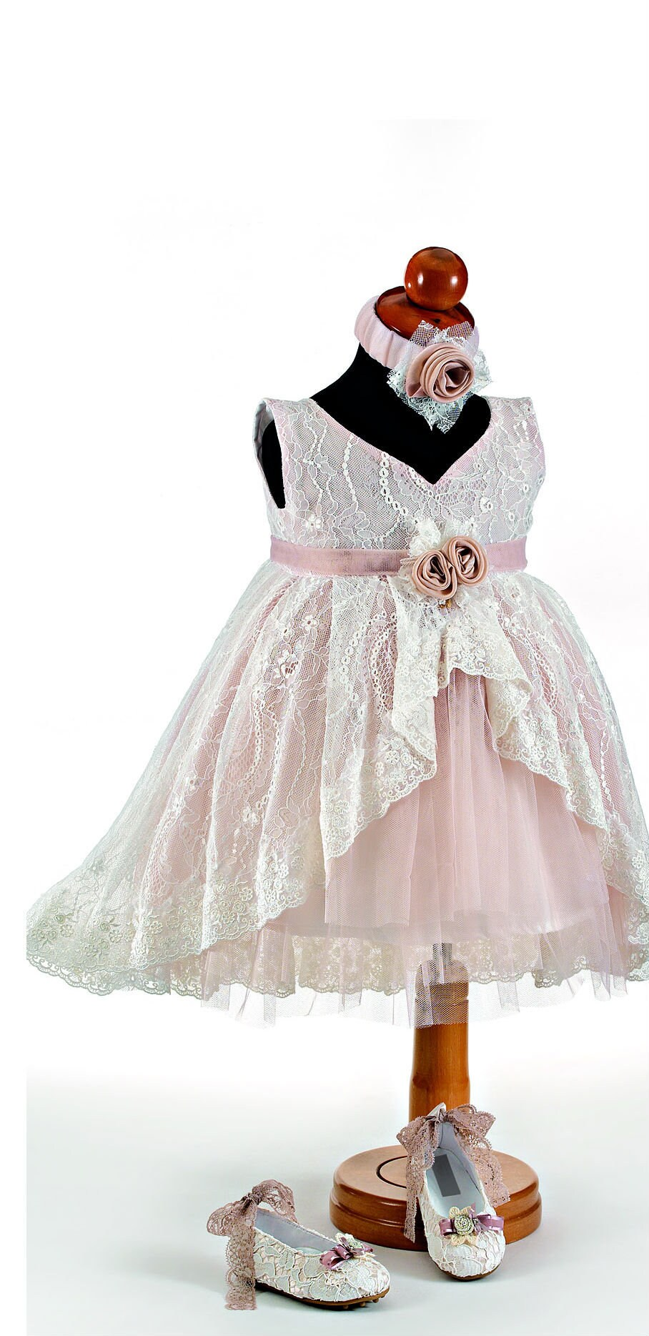 Baby Girl Wedding Dress Outfit Shoes Options Lace White Flowergirl Gown Greek Orthodox Baptism Party Wedding Baby Couture Tail Fashion