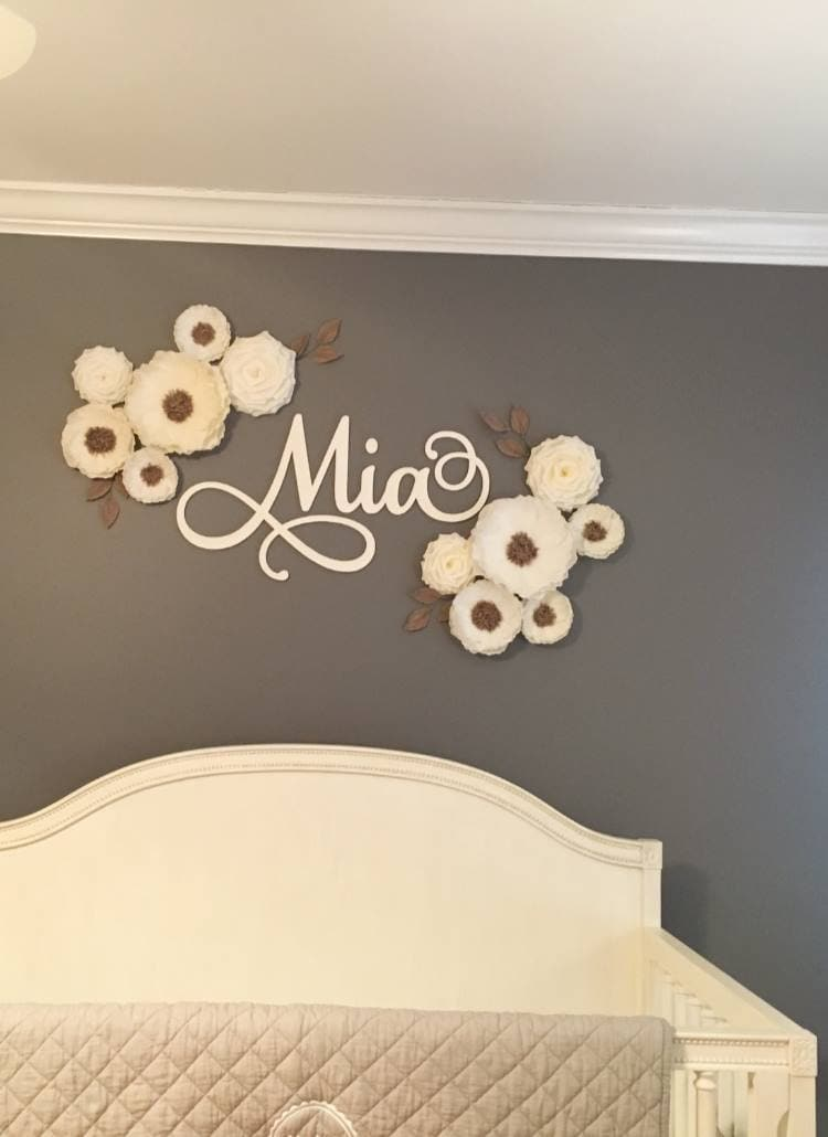 12 Paper Flowers/ Baby Shower Decorations/ Flowers Wall Decor/ Nusrery Wedding Decoration/ Arch Bridal