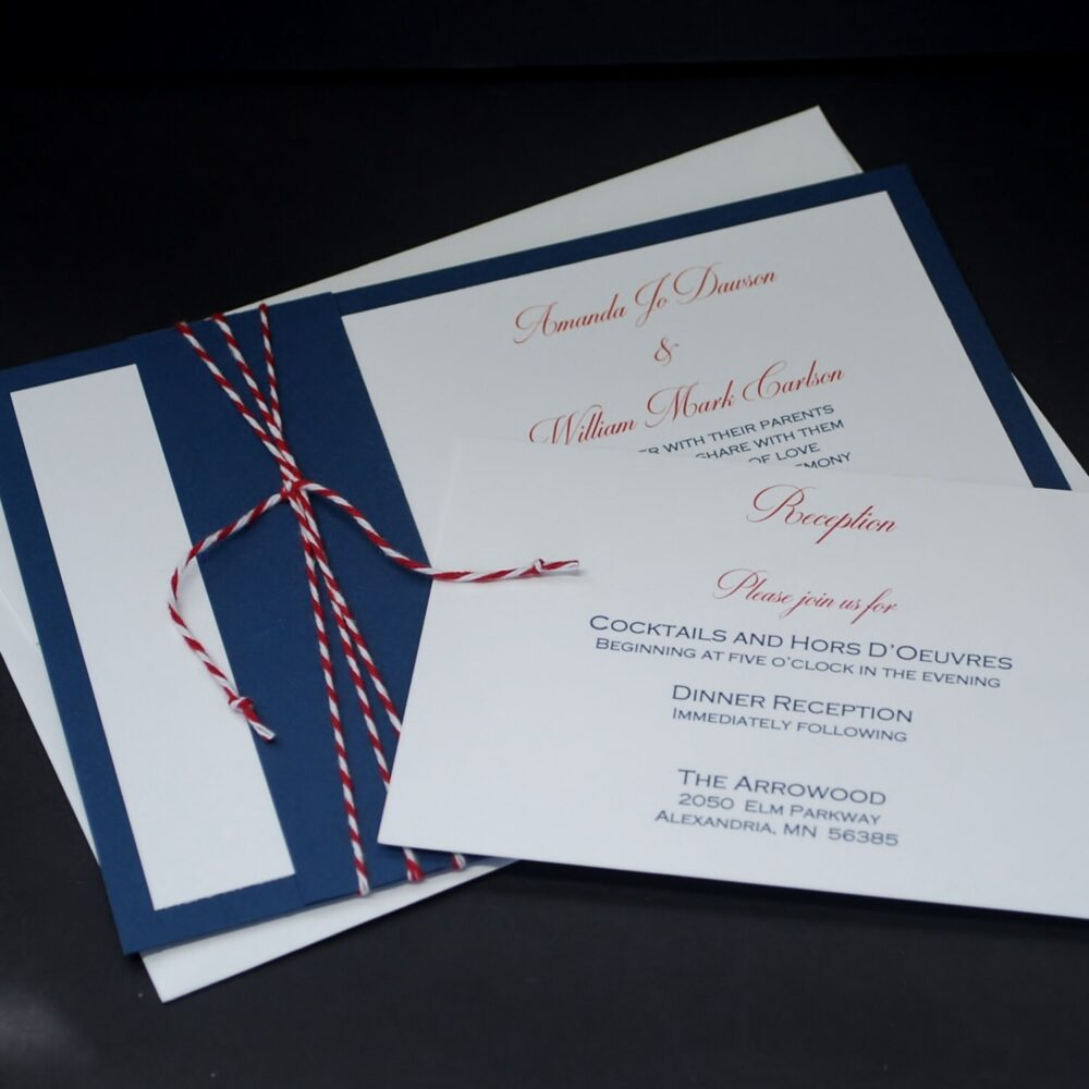 Nautical Navy, Wedding Invitation Sample Set, Red, White, Blue, Bakers Twine, Patriotic, Nautical, 4Th Of July, Americana, Suite