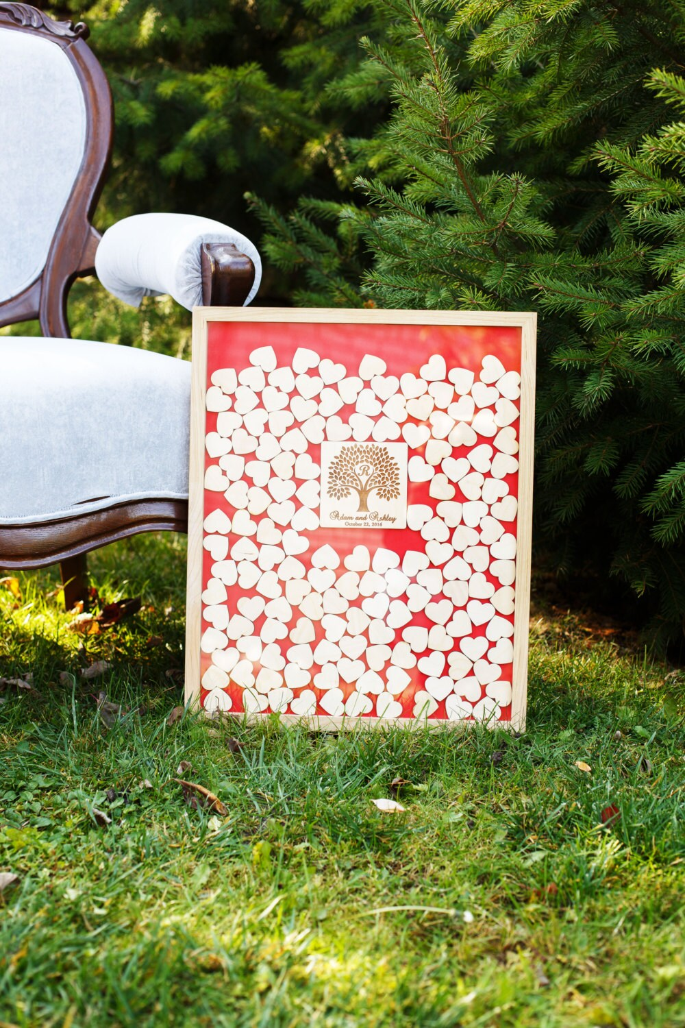 Wedding Guest Book Alternative 3D Guestbook Personalized Drop Box Unique Guestbooks Wood