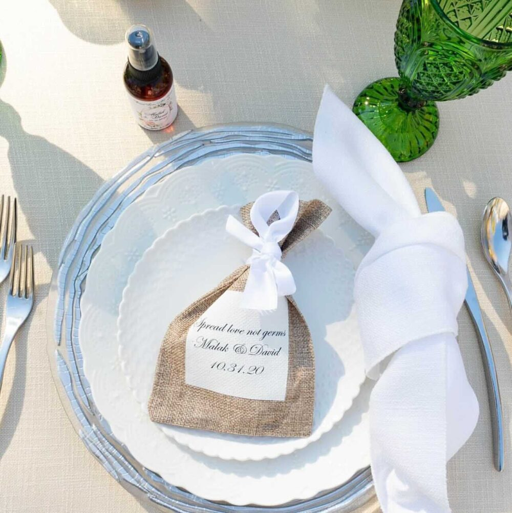 Rustic Wedding Favor Bags - Burlap For Guests Personalized Rustic Pouch