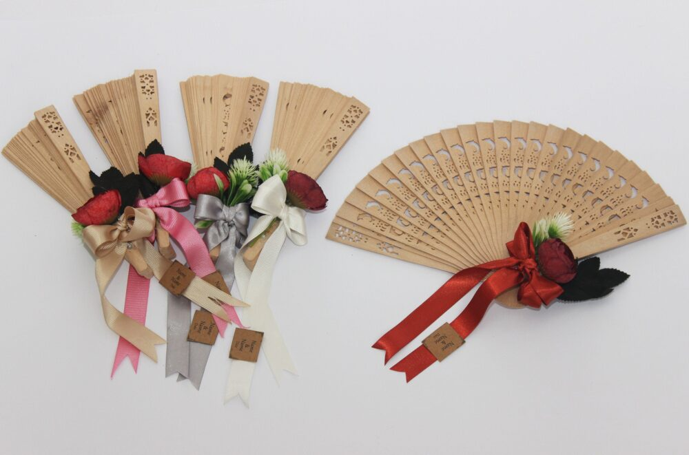 Wooden Fan For Wedding Favor , Natural Wood Fans Hand Fan Wedding Gift Party Favour, Personalized Fans