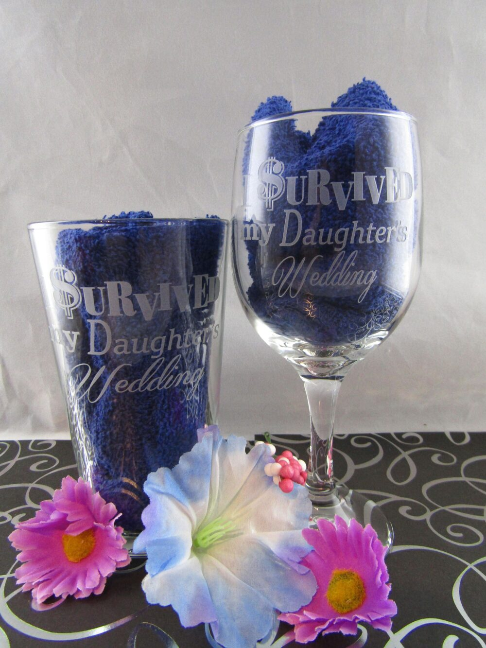 Parents Wedding Gift, I Survived My Daughter's Set Of 2, Son's Wedding, Mother The & Father Bride Or Groom
