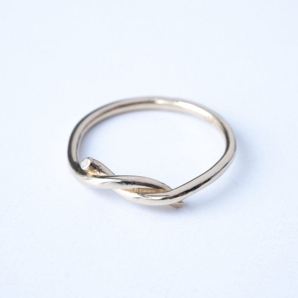 Super Thin Gold Knot Ring, Dainty Promise Love Sister Mother Daughter Rings, Bff Delicate Ring Jewelry Gift Mom | Unity Rings