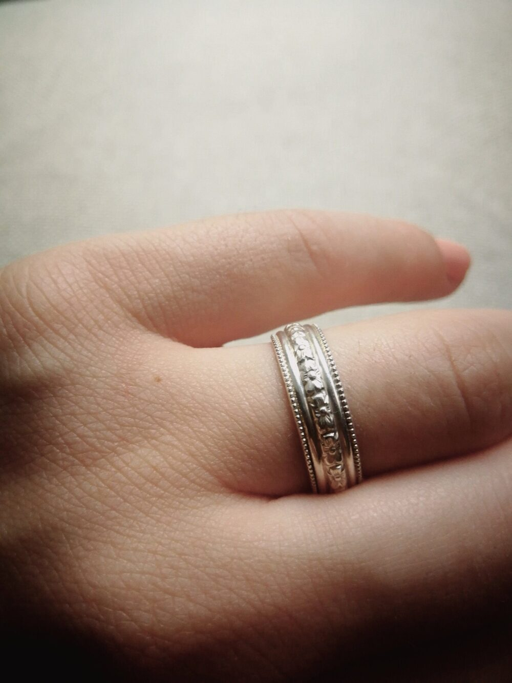 Antique Wedding Band, Cross Ring, Sterling Silver Celtic Ring