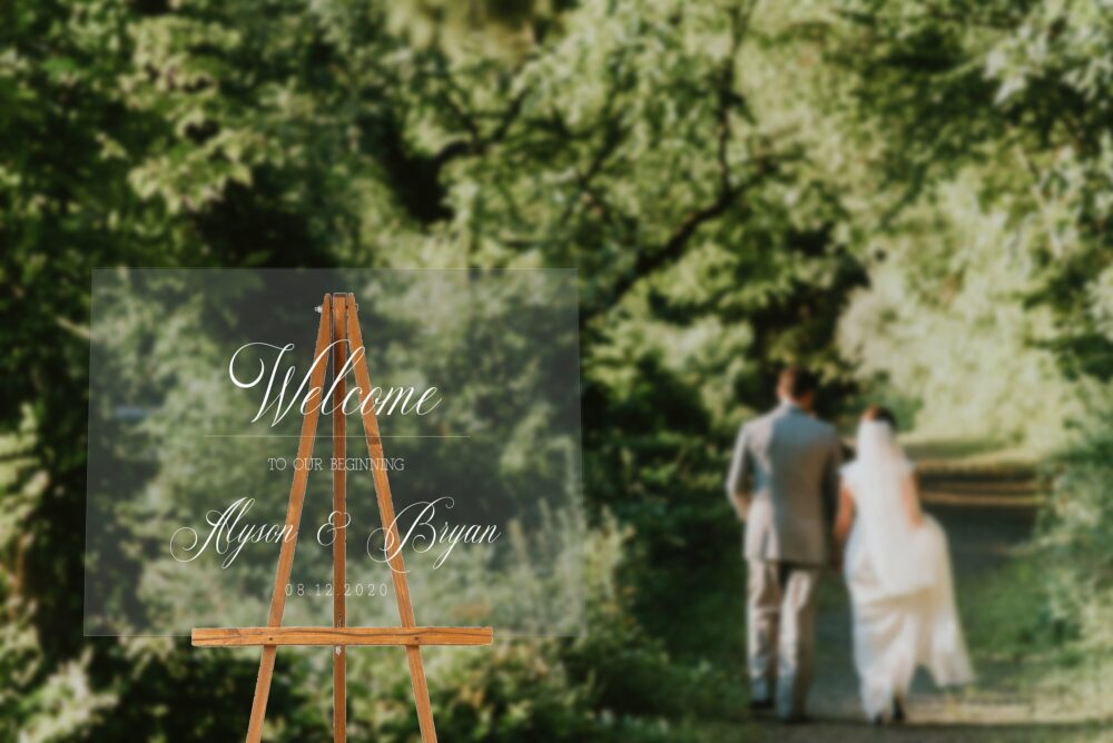 Free Preview Wedding Welcome Sign Clear Acrylic Modern Decor Calligraphic Memorial