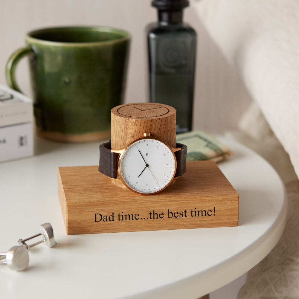 Personalized Single Watch Stand/Wedding Day Groom Gift Personalised Display Holder Anniversary