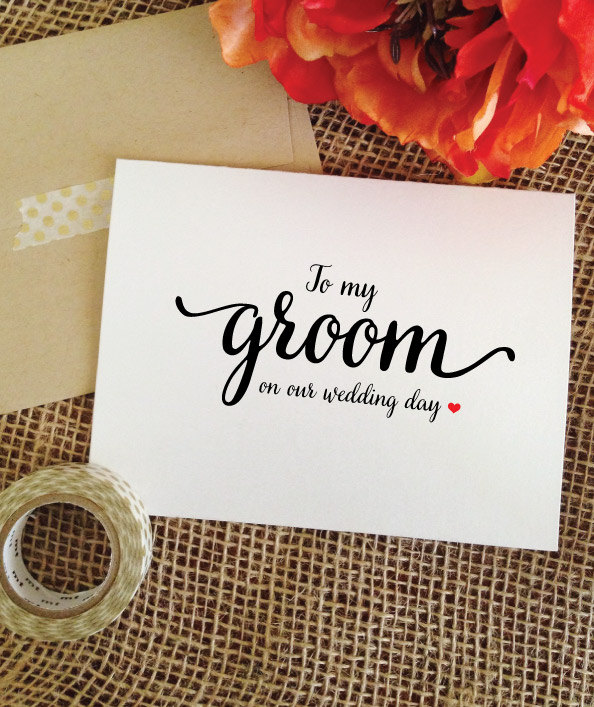 Wedding Card For Groom Gift From Bride Husband Wedding Gift Card To My Groom On Our Day Gifts | Lovelycard Wac7