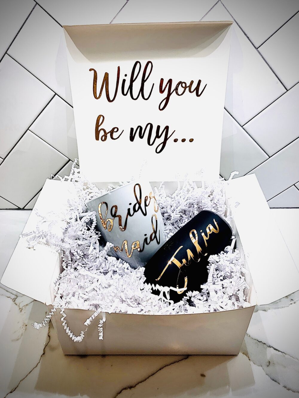 Bridesmaid Proposal Box, Coffee Mug Proposal, Maid Of Honor Matron Honor, Will You Be My Gifts, Personalized