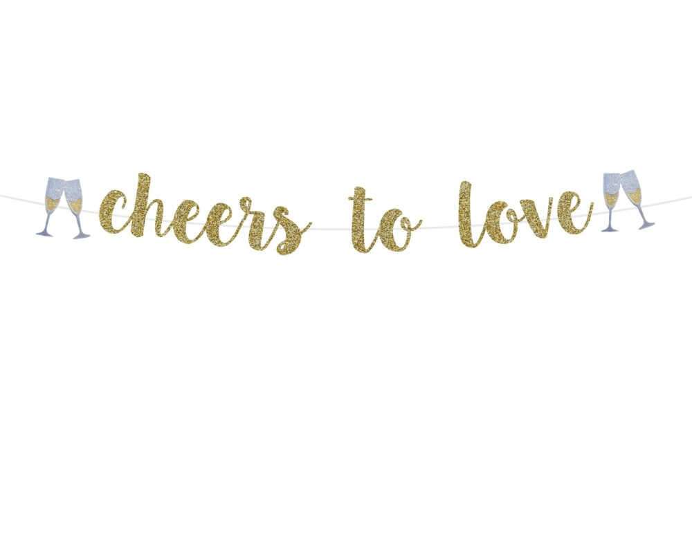Engagement Party Decorations   Cheers To Love Banner Engaged Ideas Decor Sign