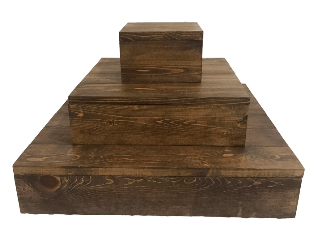 Tiered Wooden Cupcake Stand, Rustic Wood Wedding Cake Display, Baby Shower Woodland Party Decorations, Bridal 3 Tier Riser