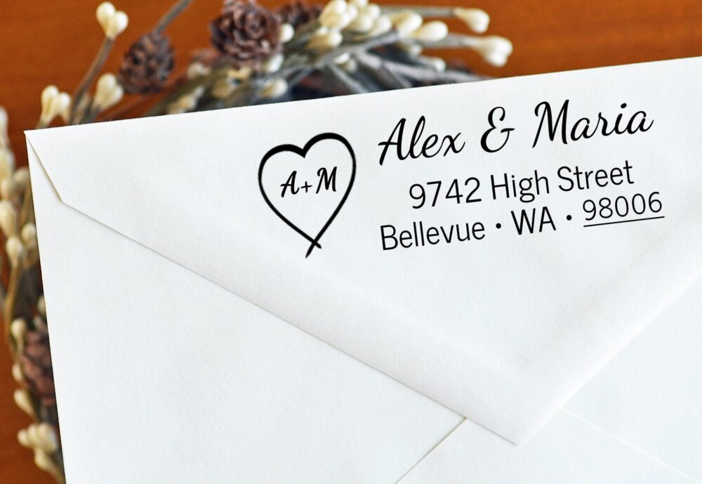 Wedding Address Stamp - For Couples in Love Gift Housewarming