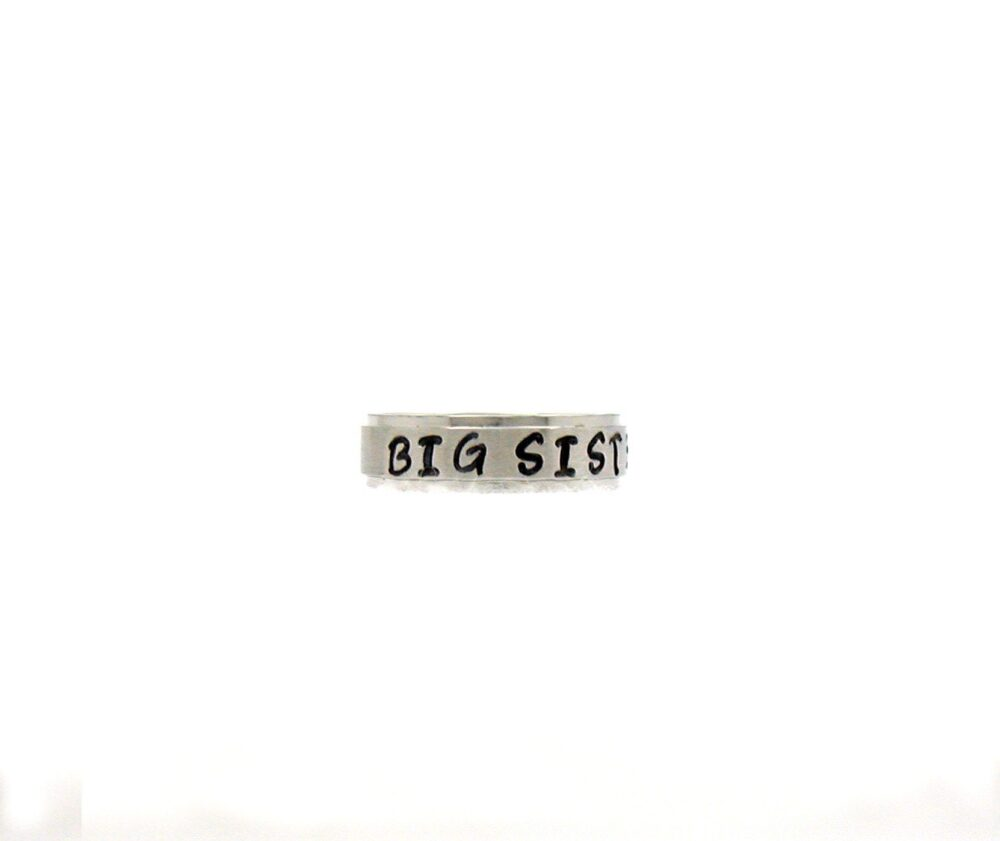 Big Sister Ring, Name Stainless Steel Personalized Custom Hand Stamped Customized Ring