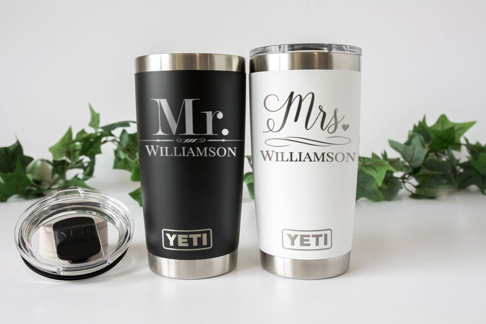 Mr & Mrs Personalized Tumbler, Gifts For Groomsmen, Bridesmaids, Tumbler Cups Insulated Water Bottle Yt102