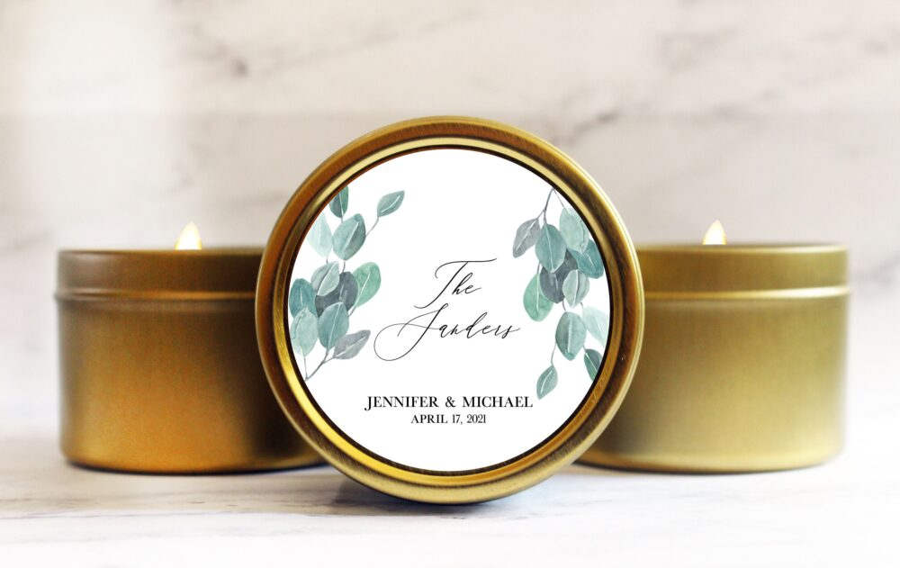 Wedding Favor - Personalized For Guests Modern Watercolor Bohemian Spring