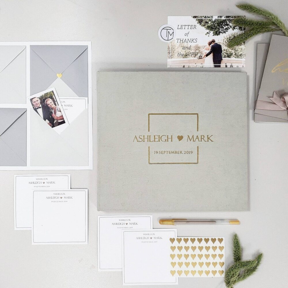 Minimalist Wedding Envelope Guest Book With Wishes & Advice Cards For Instax Pictures, Orginal Guest Ideas, Advice