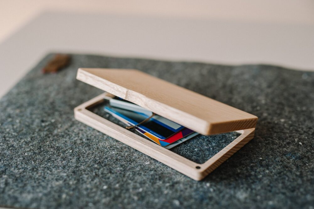 Personalized Small Wooden Box, Wood Phone Case, Real Wood Credit Card Holder, Business Christmas Gift Or Birthday