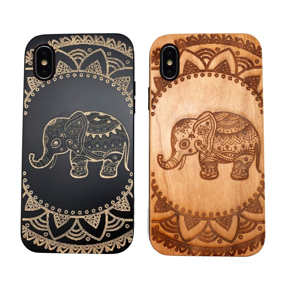 Baby Elephant Mandala Wood Phone Case Iphone Samsung 5 6 7 8 Plus X Xr Xsmax Xs Max 11 Pro Best Gift For Couples Loved Ones
