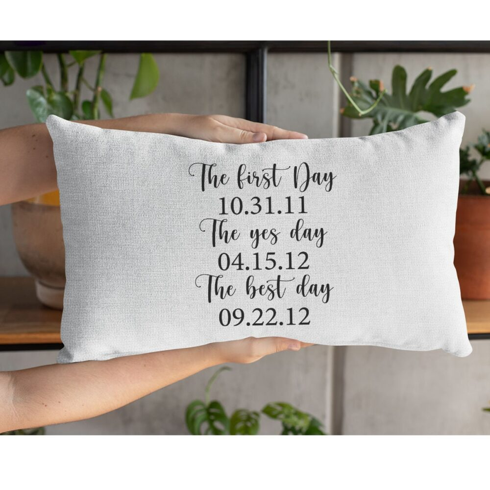 Wedding Pillow, Engagement Personalize Gift, Engaged Newlywed Gıft For Bride, Gift
