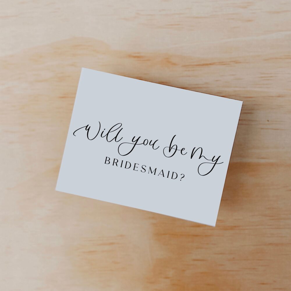 Wedding Party Proposal Cards, Single Sided Card, Bridesmaid Will You Be My Bridal Card