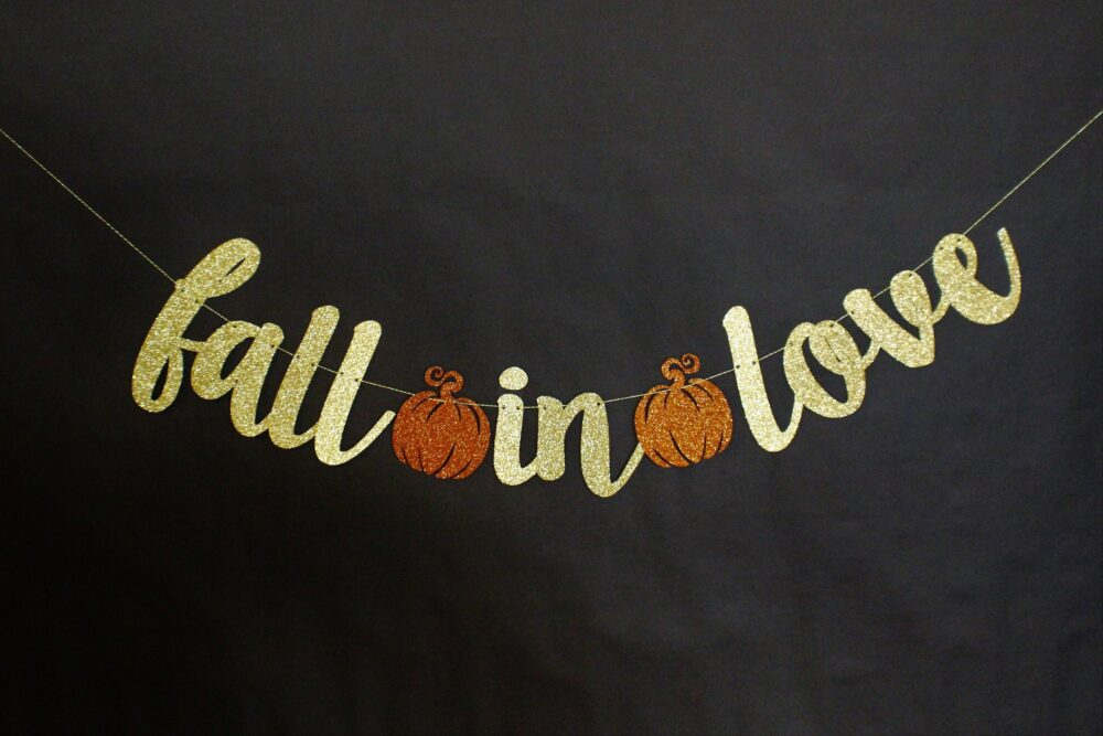 Fall Wedding Decoration - Fall in Love Banner Wedding Sign Home Decoration Garland