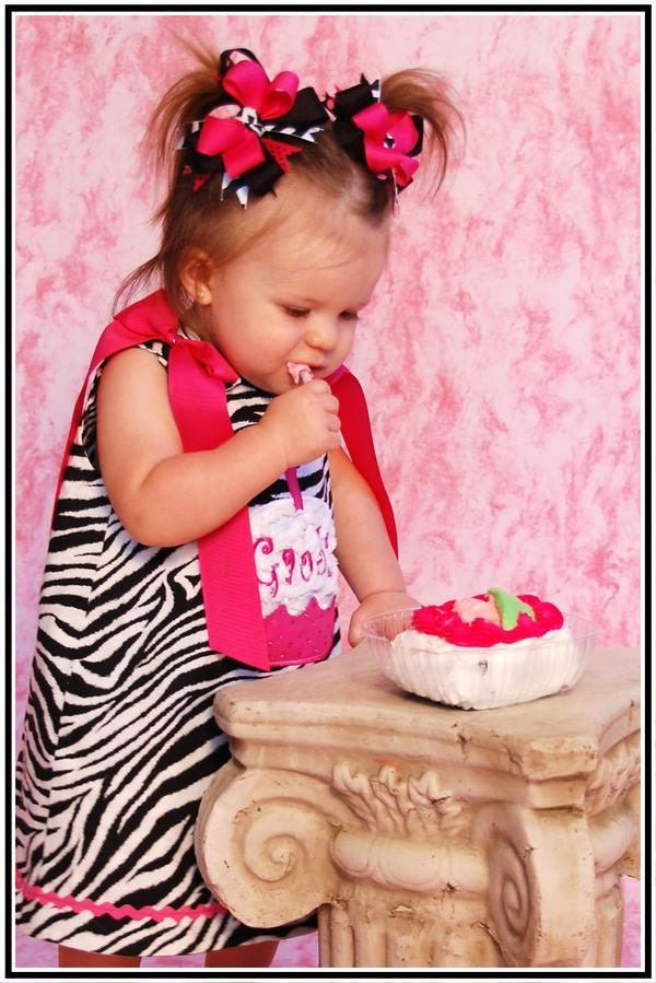 Hot Pink Chenille Birthday Cake Applique Zebra Party Monogram A-Line Dress 3 Mo 6 9 12 18 24 2T 3T 4T 5T 6x