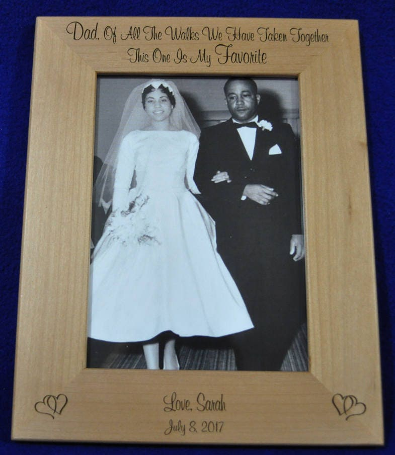 Gift For Dad ~ Father Of The Bride Frame Birthday Engraved Picture Frames Wedding To From Daughter