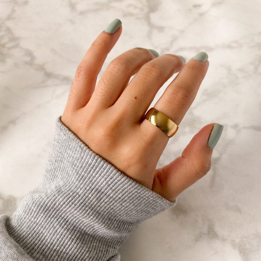 8mm Thick Band Ring in Stainless Steel | Sizes 6, 7, 8, 9, 10