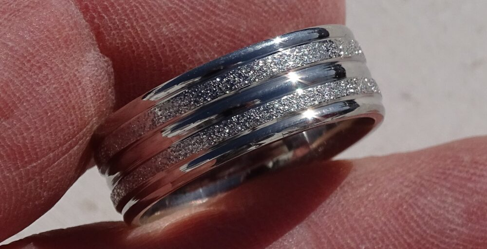 Stainless Steel Ring, Frosted Ring, Stainless Band, Ring Band, Band Ring, Finger Ring, Silver Ring