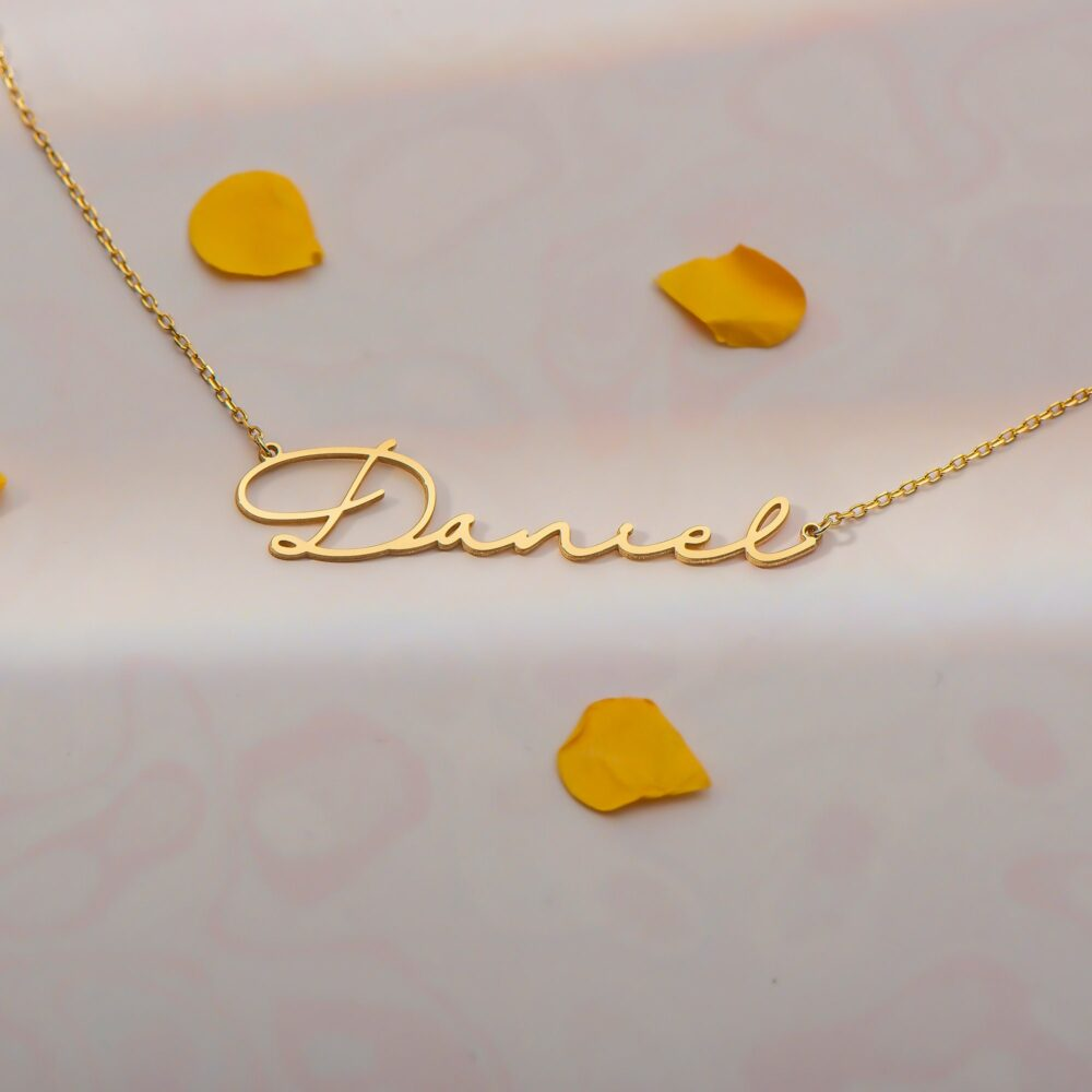 Name Script Necklace , Signature , Actual Handwriting , 14K Gold Necklace , Personalized Gifts, Personalized Jewelry
