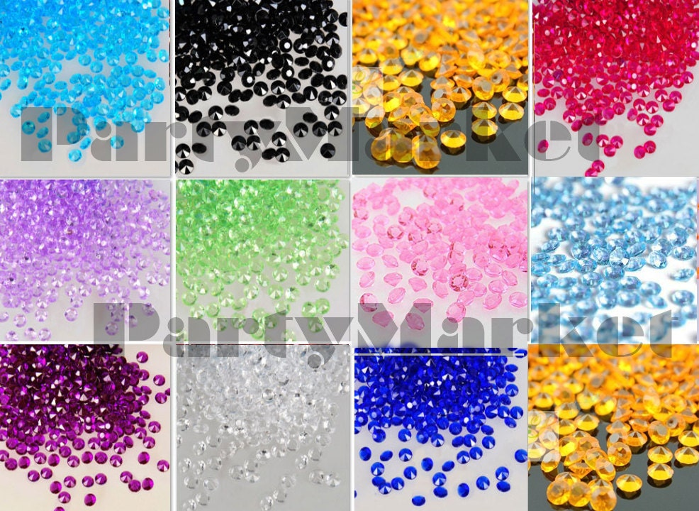 10.000Pcs Acrylic 4.5mm Diamond Crystal Confetti For Wedding Party Decoration Centerpiece Table Scatters Vase Filler Favor Supplies