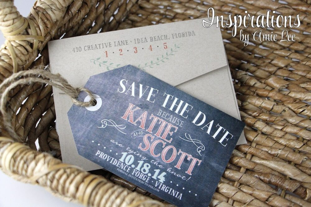 Save The Date Luggage Tags, Chalkboard Dates, Invitations, Southern Wedding, Rustic Wedding