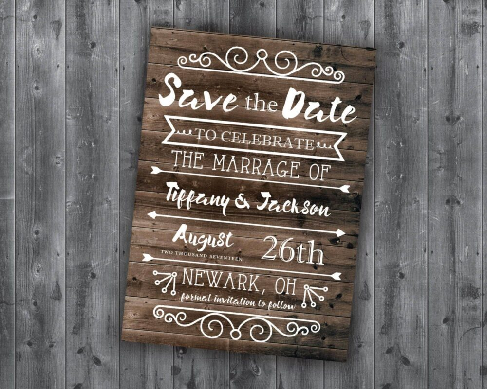 Save The Date Postcards, Template, Wedding, Affordable, Cheap, Invite, Wood, Postcard, Barn, Summer, Outside, Rustic Country