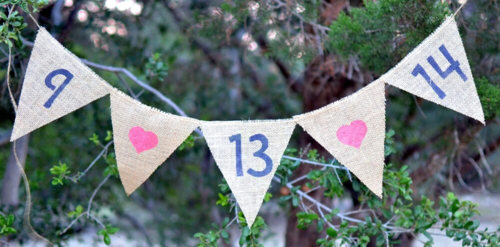 Customize Burlap Save The Date Banner Weddings, Babies, Engagement, Anniversary