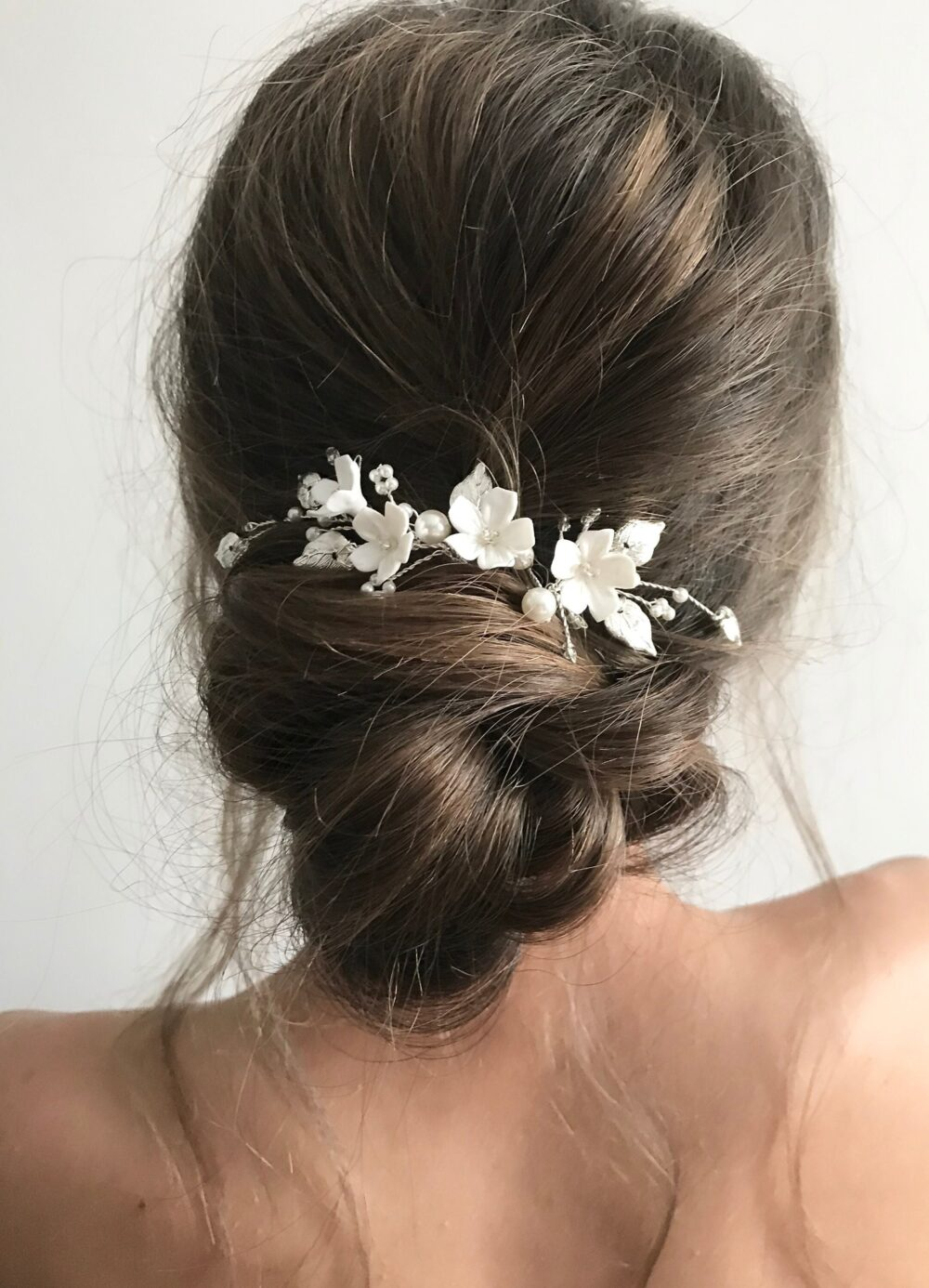 Mini Floral Hair Pins Pearl Wedding Clip Babys Breath Headpiece Bridal Pieces Flower Girl Accessories Set Of 2 Hairpin