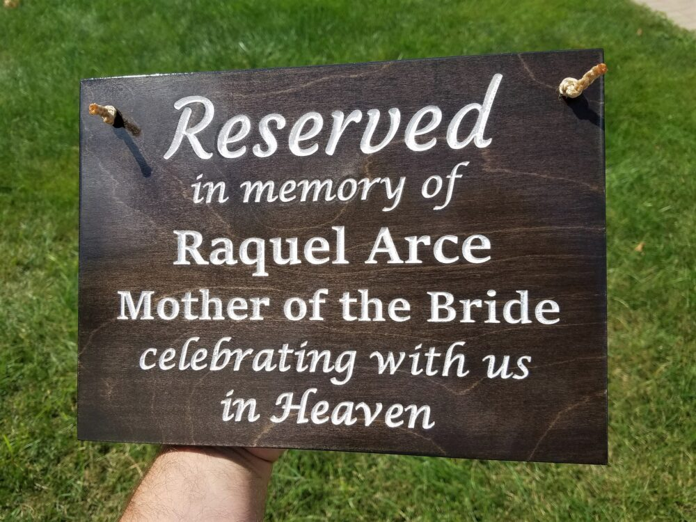 Reserved Signs Wedding Decor, Engraved Plaque, in Loving Memory Of Sign, Memorial Sign