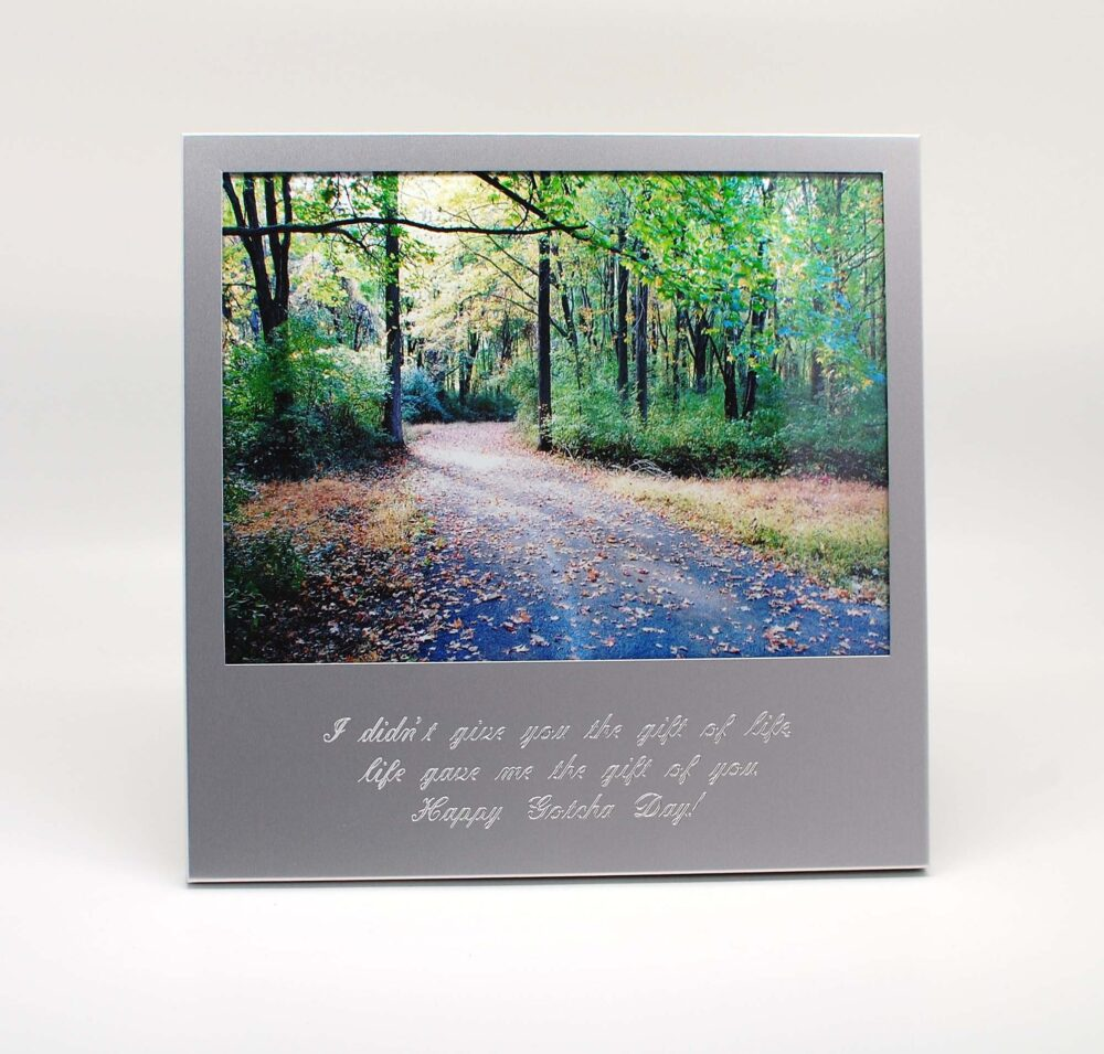 Personalized 5X7 Photo Frame With Quote - Engraved 5 X7 Picture Engraved